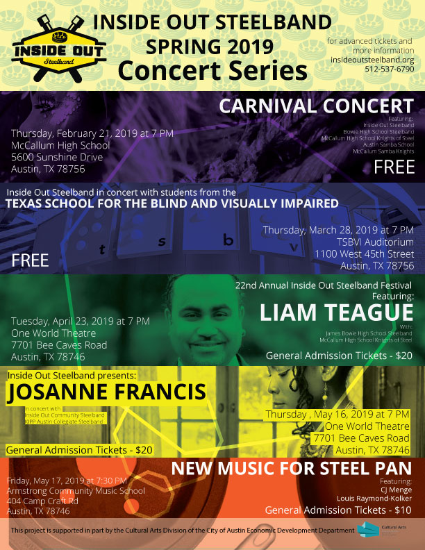 Inside Out Steelband Spring 2019 Concert Dates! – Inside Out Steelband